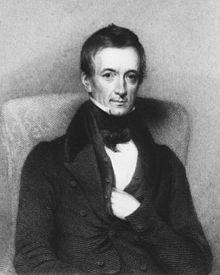 Roget by Thomas Pettigrew 1842, print of portrait, Medical Portrait Gallery