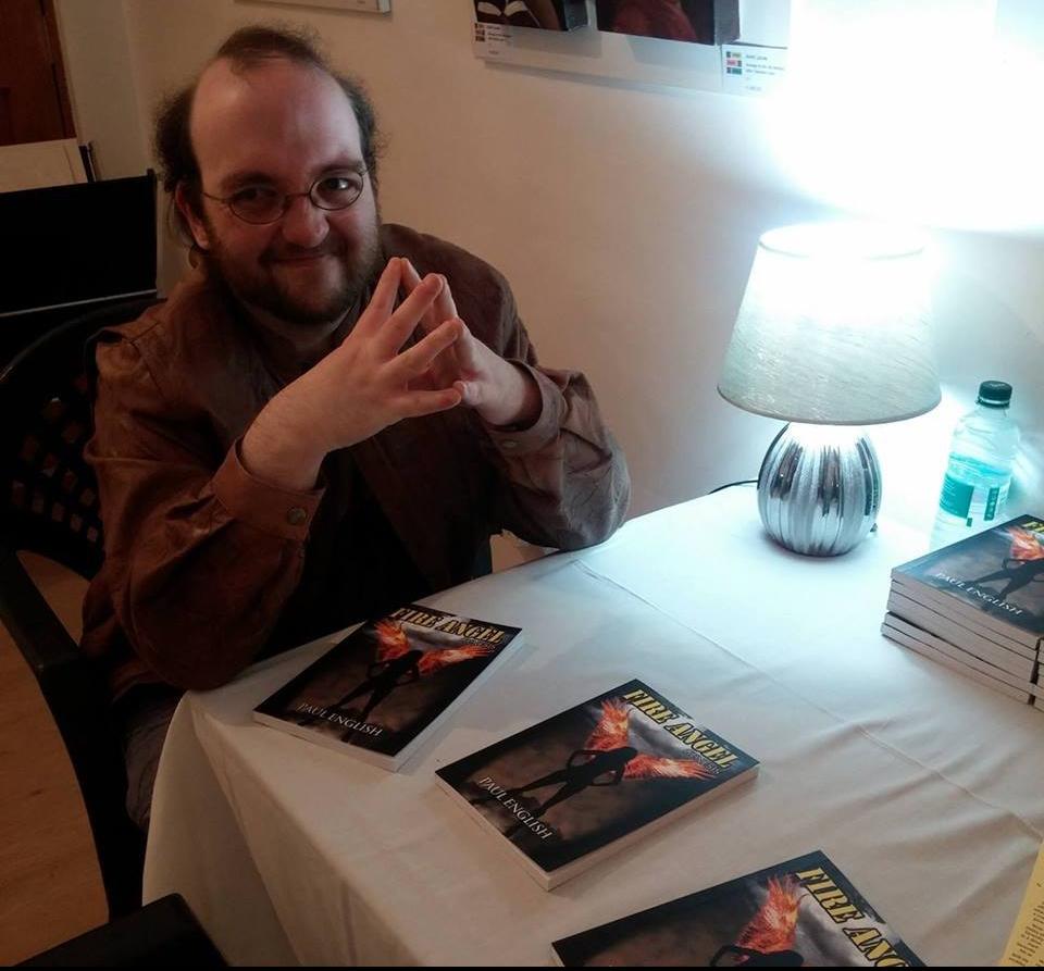 Paul English at a book signing