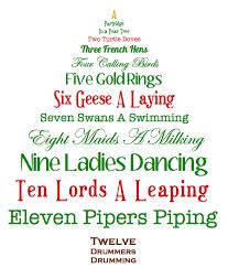 12 days of Christmas lunasonline