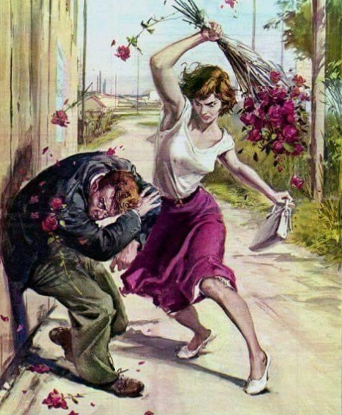 Flowers Beating by Walter Molino - picture prompt