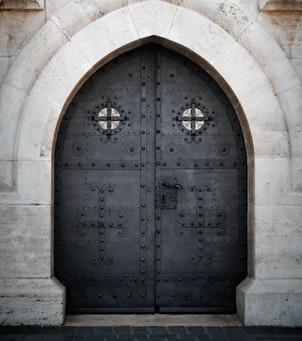Closed Iron Doors