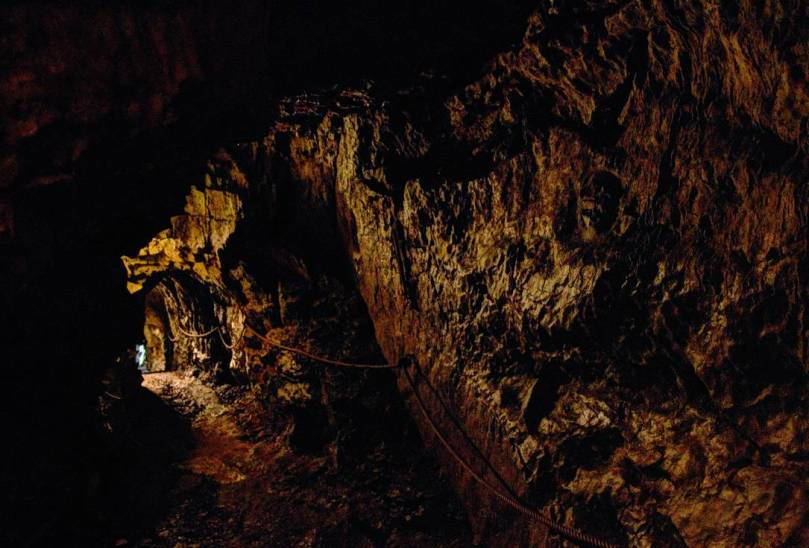 a passage with in a cave
