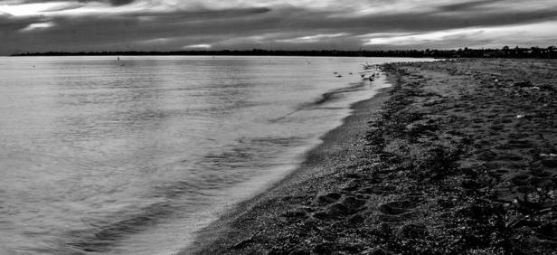 a photo of an empty beach